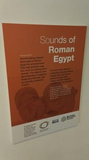 Sounds of Roman Egypt -näyttelyn esittelyteksti